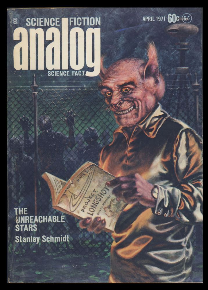 Analog Science Fiction Science Fact April 1971. John W. Campbell, ed, Jr.