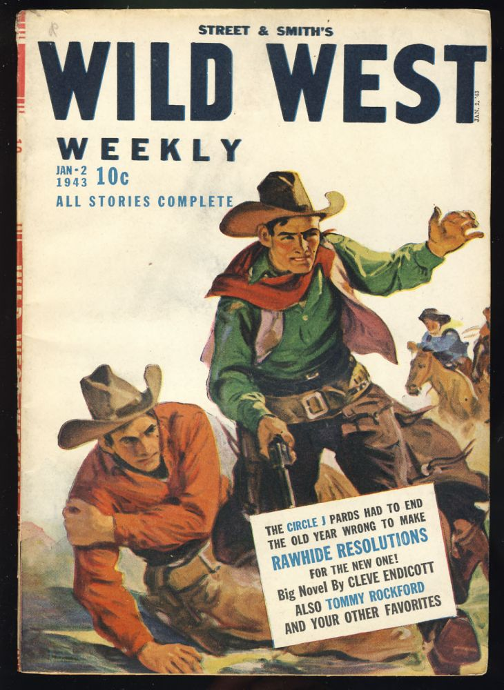 Street & Smith's Wild West Weekly January 2, 1943. Cleve Endicott.