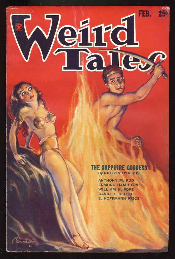 The Valley of the Worm in Weird Tales February 1934. Robert E. Howard.