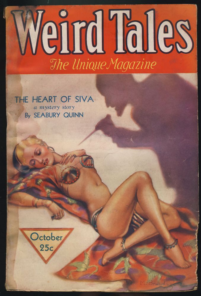The Heart of Siva in Weird Tales October 1932. Seabury Quinn.
