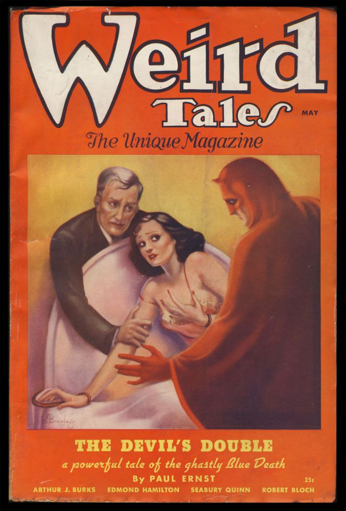 The Devil's Double in Weird Tales May 1936. Paul Ernst.