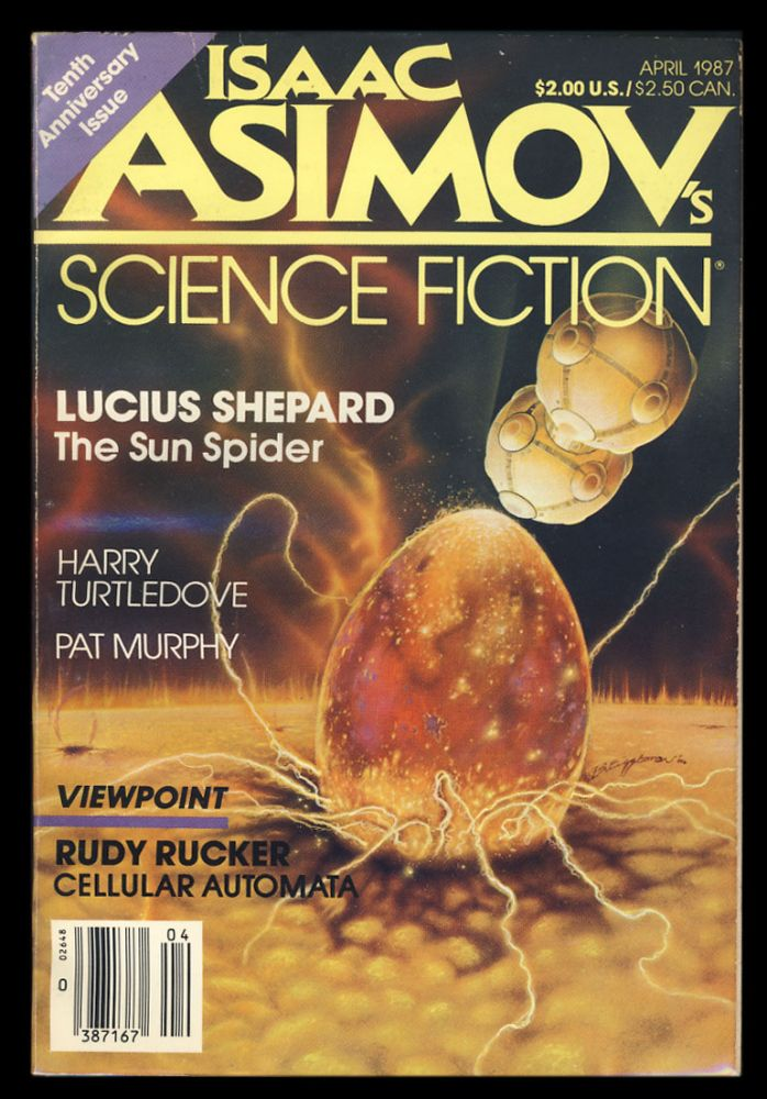 Rachel in Love in Isaac Asimov's Science Fiction Magazine April 1987. Pat Murphy.