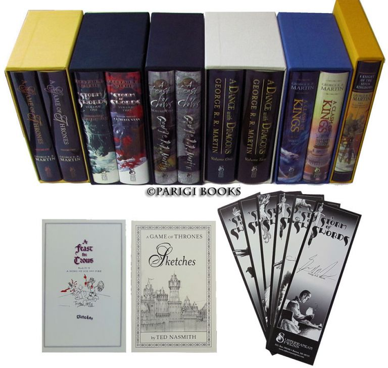 A Song of Ice and Fire Complete Set. (A Game of Thrones. A Clash of Kings. A Storm of Swords. A Feast for Crows. A Dance with Dragons. A Knight of the Seven Kingdoms. All Signed Limited Editions with Matching Numbers). George R. R. Martin.