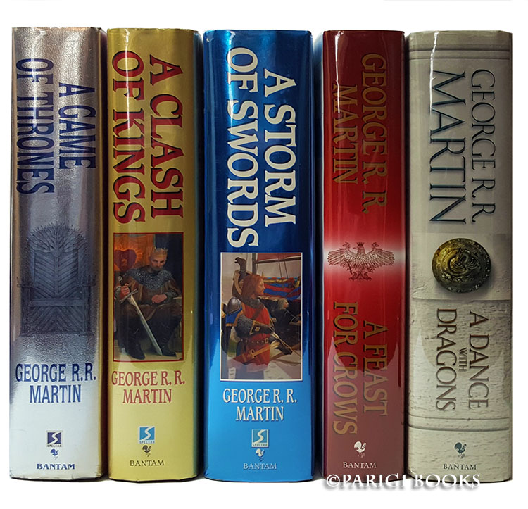 A Song of Ice and Fire Complete Set. (A Game of Thrones. A Clash of Kings. A Storm of Swords. A Feast for Crows. A Dance with Dragons). [with] A Knight of the Seven Kingdoms. George R. R. Martin.