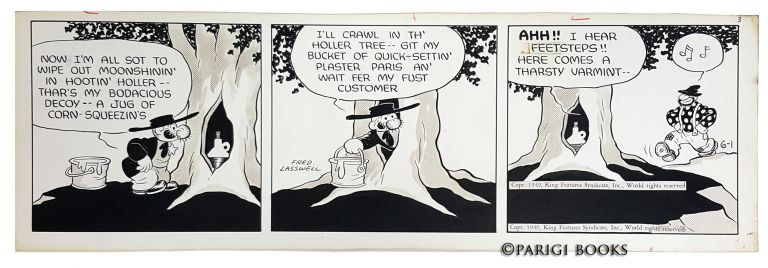 Fred Lasswell Barney Google and Snuffy Smith Daily Comic Strip Original Art Dated 6-1-49. Fred Lasswell.