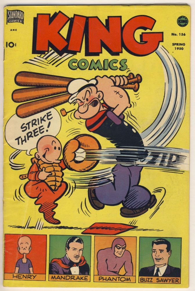 King Comics No. 156. (Featuring Popeye, Mandrake, Phantom, Buzz Sawyer, Etc.). Various Authors.