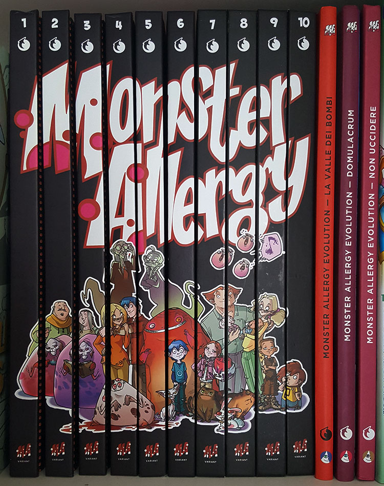 Monster Allergy Eight Volume Set. (Monster Allergy Collection Variant Edition #1 to 6 + Monster Allergy Evolution #1 and 2. Seven Volumes with a Signed Drawing by the Cover Artist). Katja Centomo, Francesco Artibani, Alessandro Barbucci, Barbara Canepa.
