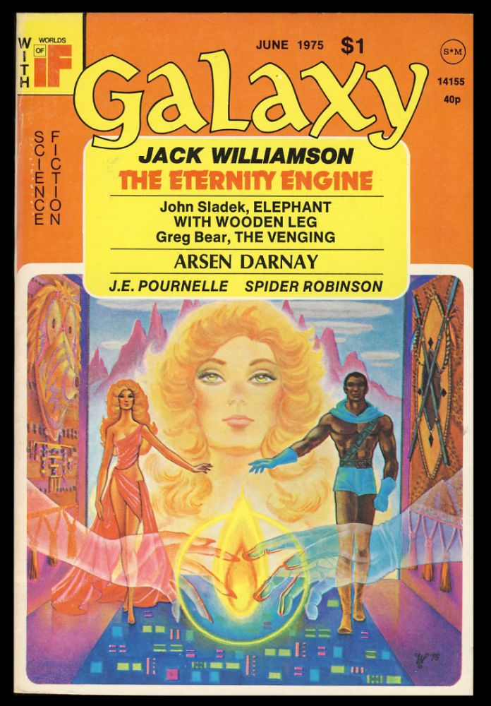 The Eternity Engine in Galaxy June 1975. (Signed Copy). Jack Williamson.