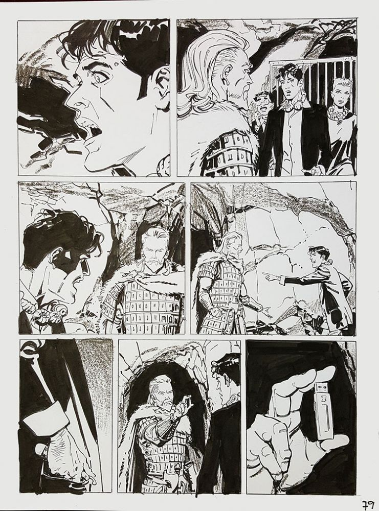 Bruno Brindisi Dampyr #209 Page 79 Original Comic Art. (Featuring Dylan Dog). Bruno Brindisi.