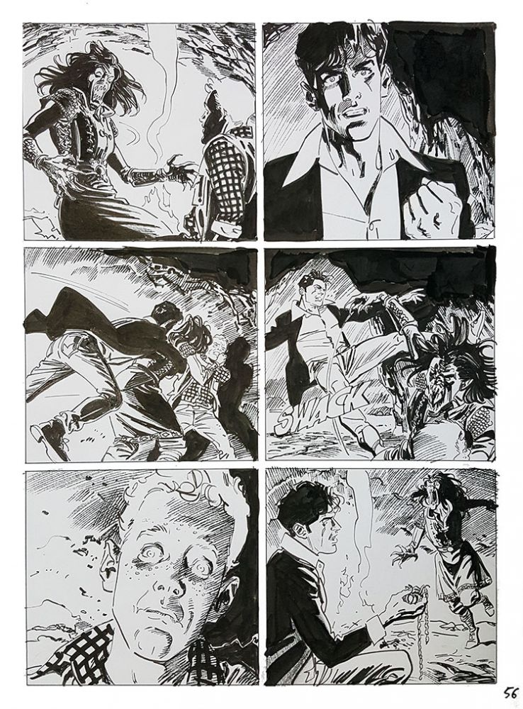 Bruno Brindisi Dampyr #209 Page 56 Original Comic Art. (Featuring Dylan Dog). Bruno Brindisi.