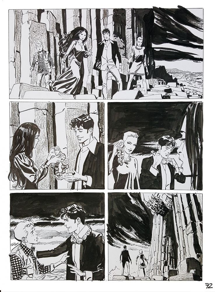 Bruno Brindisi Dampyr #209 Page 72 Original Comic Art. (Featuring Dylan Dog). Bruno Brindisi.