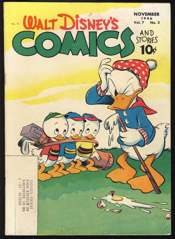 Walt Disney's Comics and Stories #74. Carl Barks, Al Taliaferro, Floyd Gottfredson.