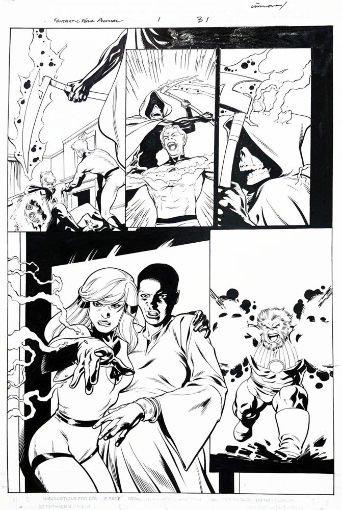 Fantastic Four Annual #1 Page 31 Original Comic Art. Stuart Immonen, Cam Smith.