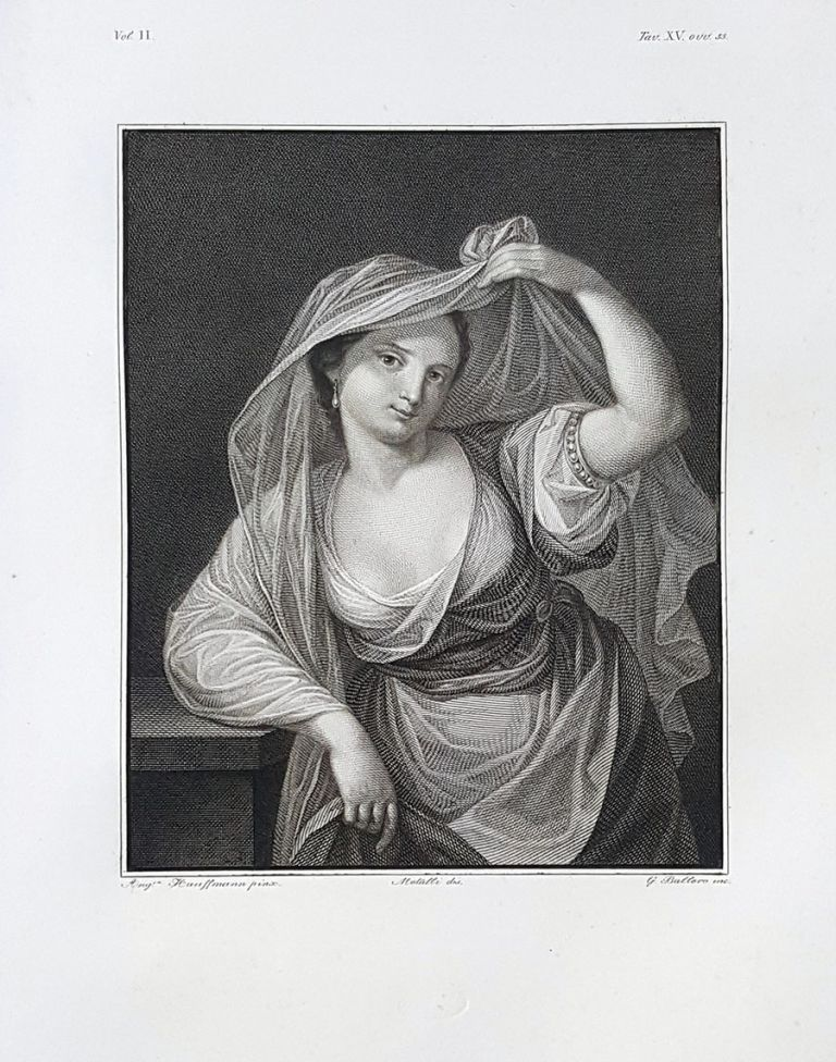 Ritratto ignoto. Etching from a Painting by Angelica Kauffmann. Giovanni Ballero, Lorenzo Metalli.