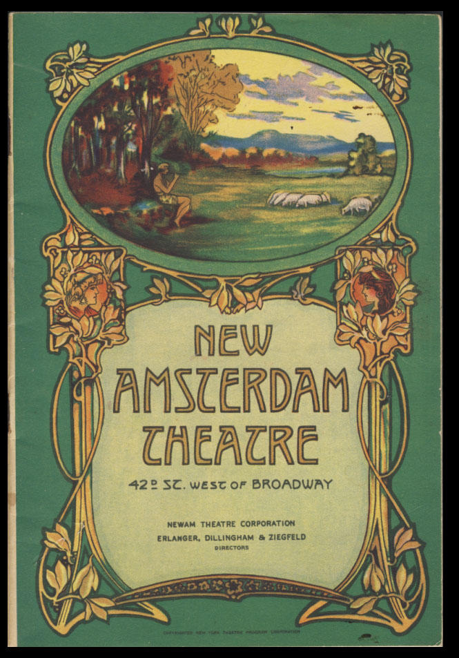 "Program for the New Amsterdam Theatre, New York, for the Week Beginning on September 16, 1929. Featuring a Ziegfeld Production Presenting Eddie Cantor in the Musical Comedy ""Whoopee"" State of New York - New Amsterdam Theatre."