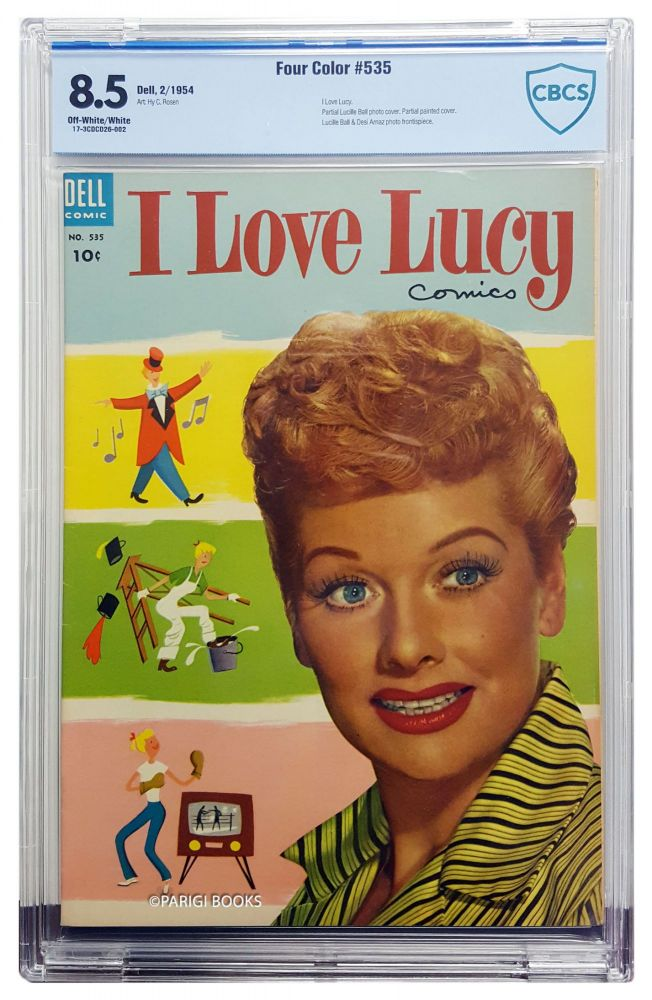 Four Color #535 - I Love Lucy Comics CBCS Graded VF+ 8.5. Hy C. Rosen.