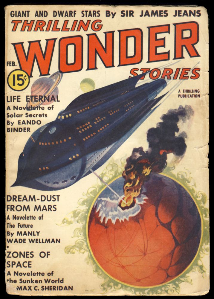 Dream-Dust from Mars in Thrilling Wonder Stories February 1938. Manly Wade Wellman.