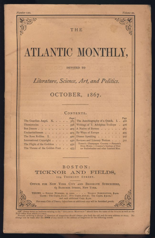 International Copyright in The Atlantic Monthly October 1867. James Parton.