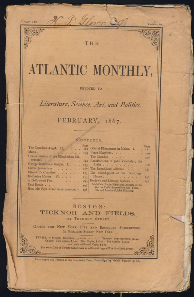 "A Review by William Dean Howells of Herman Melville's ""Battle-Pieces and Aspects of the War"" in The Atlantic Monthly February 1867. William Dean Howells."