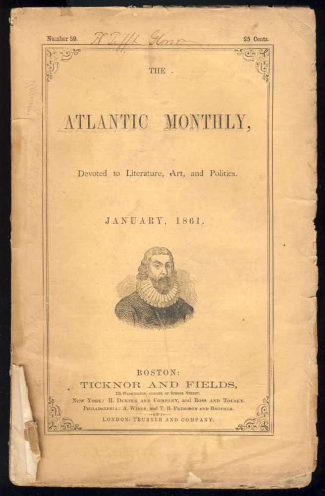 Paul Revere's Ride in The Atlantic Monthly January 1861. Henry Wadsworth Longfellow.