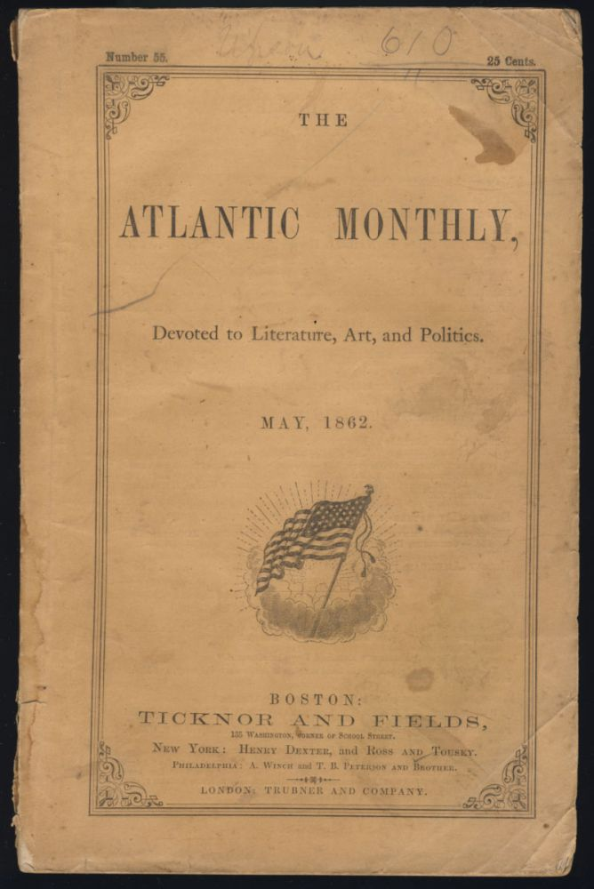 Slavery, in Its Principles, Development, and Expedients in The Atlantic Monthly May 1862. Edwin Percy Whipple.