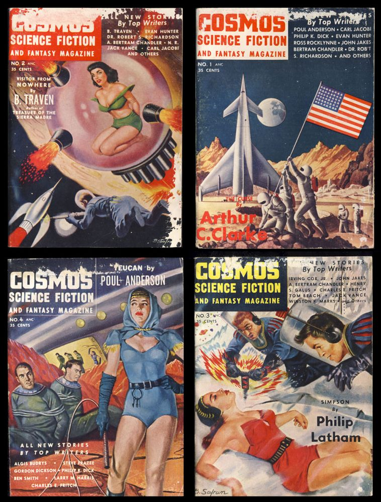 Complete Set of Cosmos Science Fiction and Fantasy. (September 1953 to July 1954). Philip K. Dick, Poul Anderson, Jack Vance.