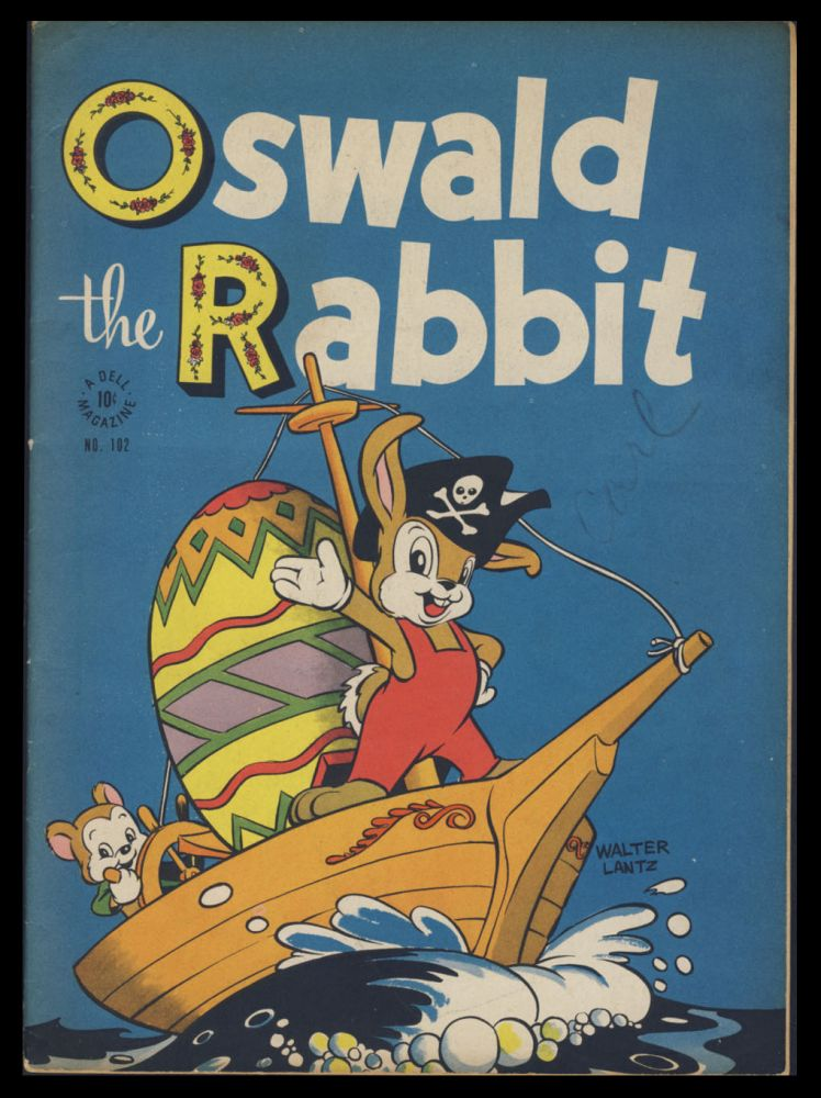 Four Color #102 - Oswald the Rabbit. Walt Kelly.