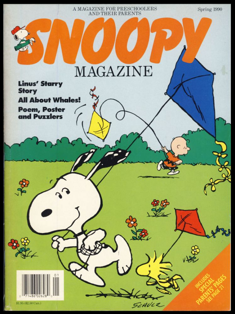 Snoopy Magazine Spring 1990. Charles M. Schulz, Louisa Campbell, ed.