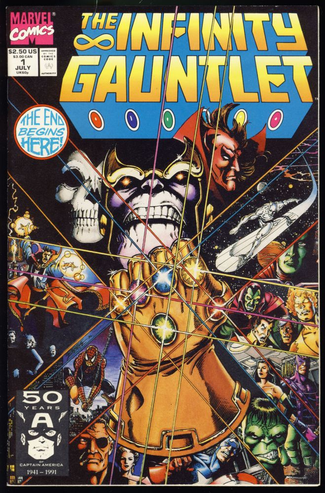 The Infinity Gauntlet. The Infinity War. (Two Complete Miniseries). Jim Starlin, George Perez, Ron Lim.