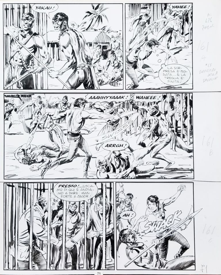 Gallieno Ferri Zagor #426 Page 71 Original Comic Art. Gallieno Ferri.
