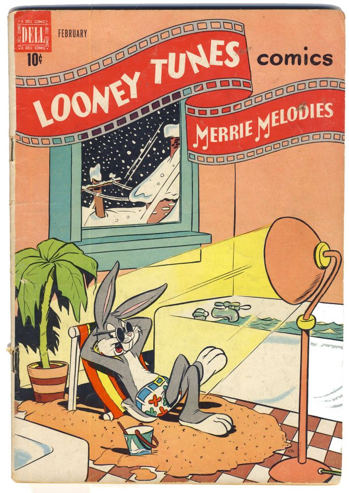 Lot of 17 Vintage Dell Comics 1940s/1960s. (Tom Corbett, Space Cadet, Looney Tunes, Popeye, Porky Pig, Bugs Bunny, Tom and Jerry, Mowgli, Daffy Duck). Authors.