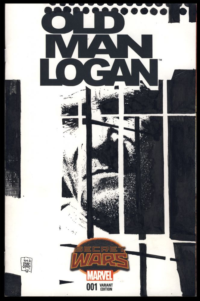 Wolverine Blank Cover Original Art by Tim Bradstreet. (Old Man Logan #1). Tim Bradstreet, Brian Michael Bendis, Andrea Sorrentino.