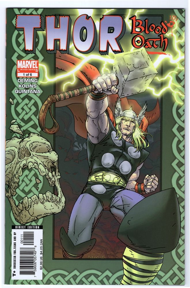 Thor: Blood Oath Complete Mini Series. Thor: The Truth of History. Thor: Reign of Blood. Thor: Ages of Thunder. Thor: Man of War. Michael Avon Oeming, Scott Kolins.