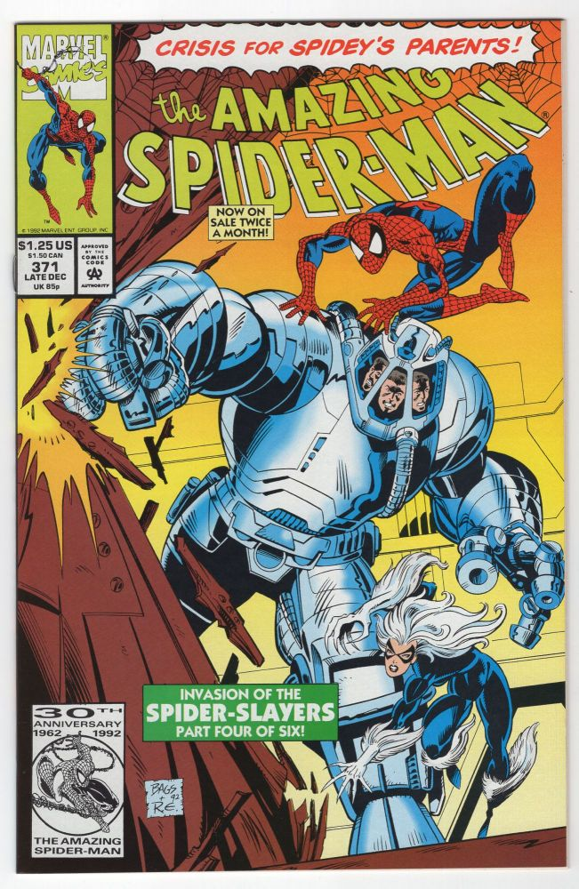 The Amazing Spider-Man #371. David Michelinie, Mark Bagley.