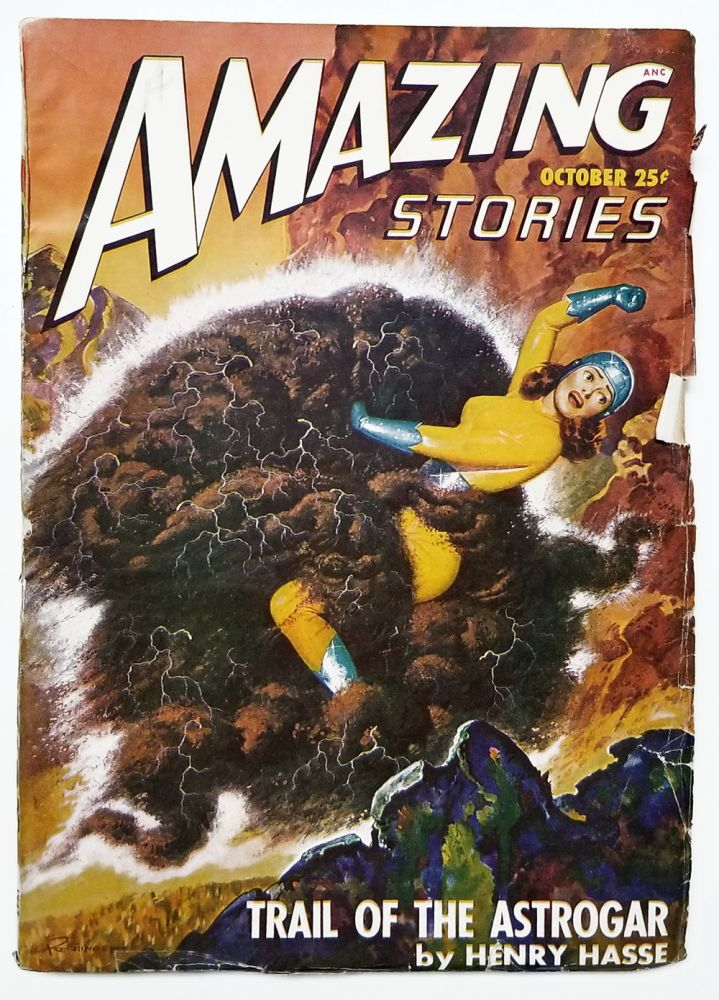 Trail of the Astrogar in Amazing Stories October 1947. Henry Hasse.