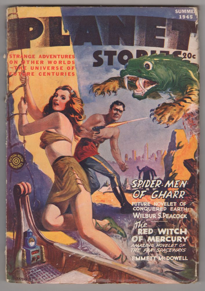 The Red Witch of Mercury in Planet Stories Summer 1945. Emmett McDowell.