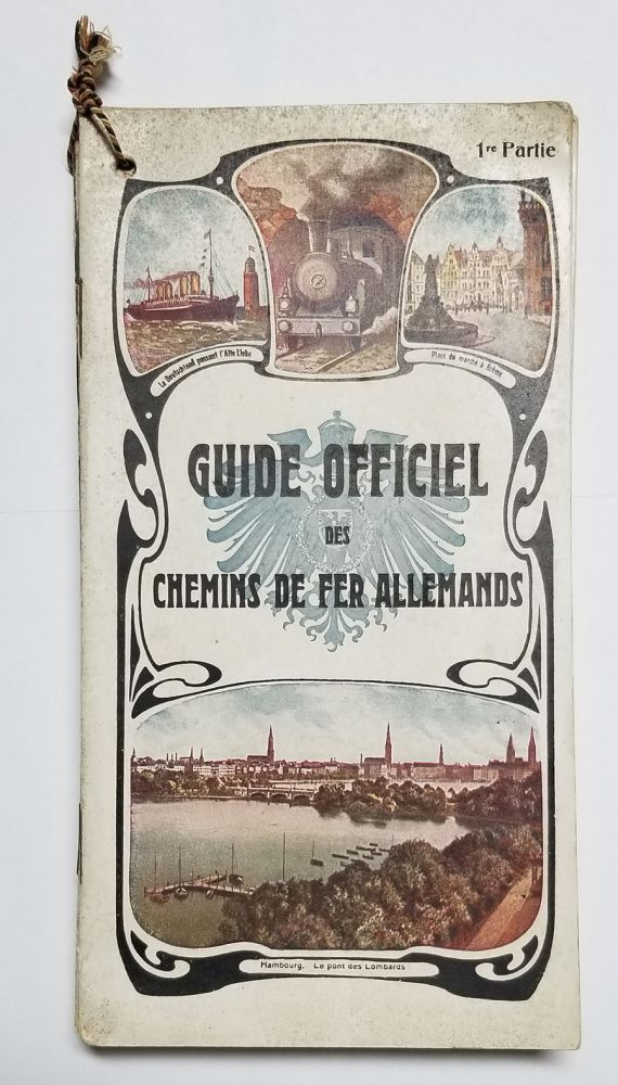 Guide officiel des chemins de fer Allemands. (French Language Guides to German Railways - Complete in Six Volumes). Germany - Railways.