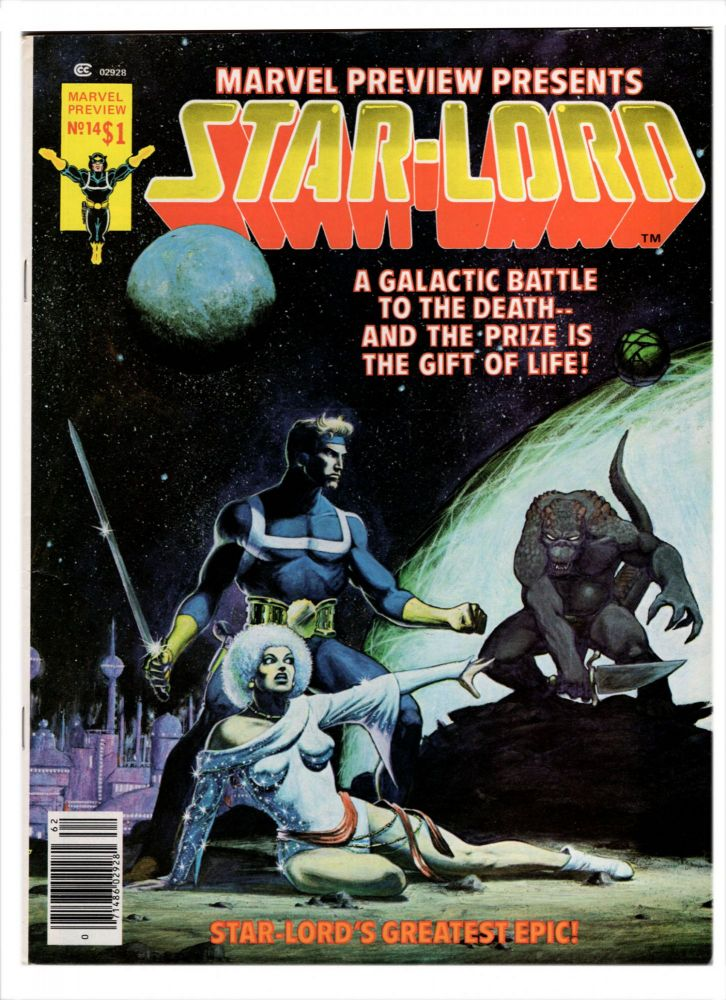 Marvel Preview #14 and #18 Featuring Star-Lord. Chris Claremont, Carmine Infantino.