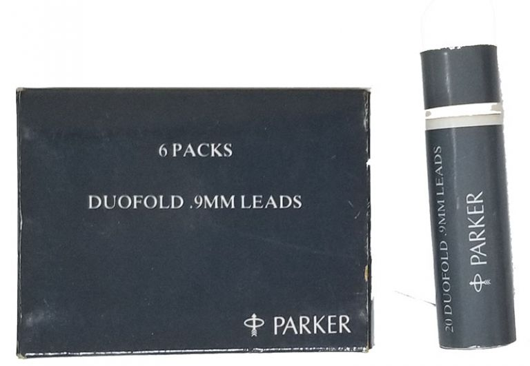 6 Tubes of Vintage Parker Duofold .9MM Leads in the Original Box. Parker.