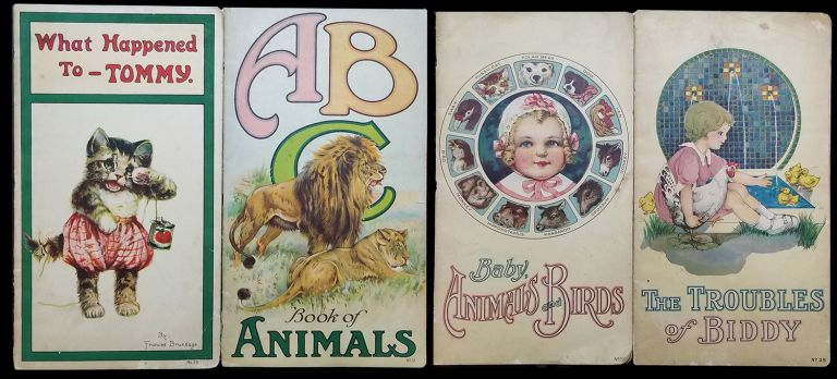 What Happened to Tommy. The Troubles of Biddy. A B C Book of Animals. Baby, Animals and Birds. (Four Volumes). Frances Brundage.