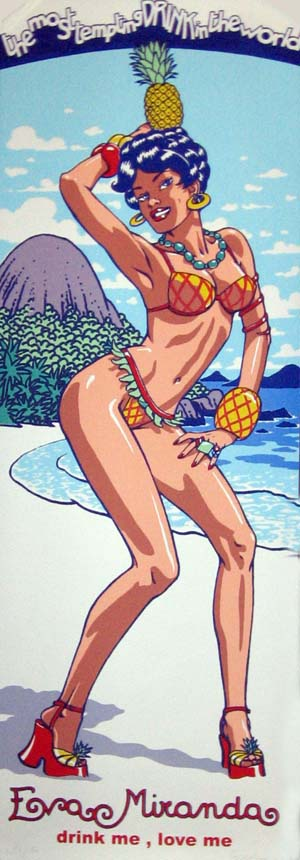 Eva Miranda Pin-Up Limited Signed and Numbered Serigraph. Vittorio Giardino.