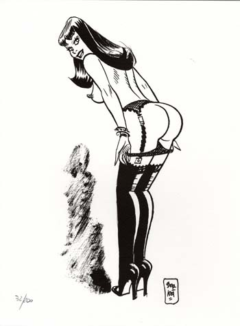 Limited and Numbered Edition Print - #5 from Chiara di notte (Clara). Jordi Bernet.