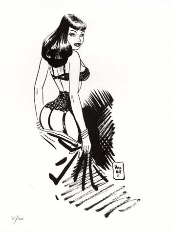 Limited and Numbered Edition Print - #8 from Chiara di notte (Clara). Jordi Bernet.
