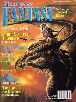 Realms of Fantasy October 1995 Vol. 2 No. 1. Shawna McCarthy, ed