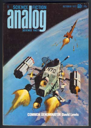 Analog Science Fiction/Science Fact October 1972. Ben Bova, ed