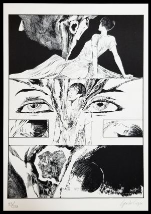 Valentina incontra Henry Moore Signed and Numbered Limited Edition Print #5. Guido Crepax.