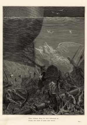 """Nine fathom deep he had followed us..."" - A plate from The Rime of the Ancient Mariner. Gustave..."