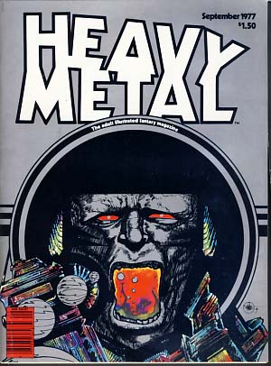 Heavy Metal Magazine September 1977 Vol. 1 No. 6. Sean Kelly, Valerie Marchant, eds