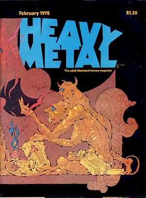 Heavy Metal Magazine February 1978 Vol. I No. 11. Sean Kelly, Valerie Marchant, eds