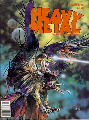 Heavy Metal Magazine August 1978 Vol. II No. 4. Sean Kelly, Valerie Marchant, eds